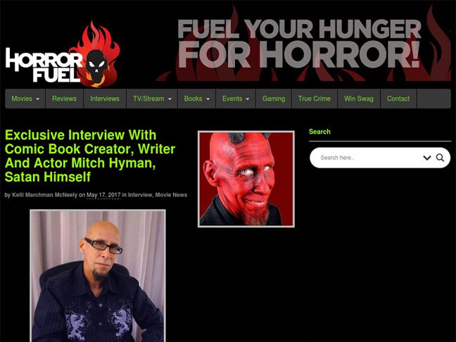 Some Mitch (& Bubba), but Mostly Satan at HorrorFuel.com