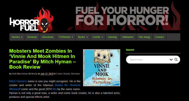 HorrorFuel.com Reviews 'Vinnie and Mook – Hitmen in Paradise'
