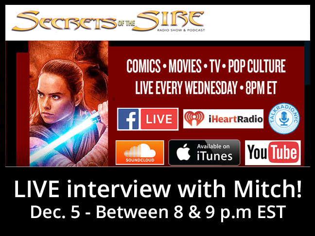 TONIGHT! Mitch on the Secrets of the Sire Radio Show & Podcast