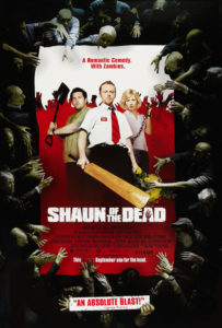 Shaun of the Dead theatrical poster by New Wave Creative via Imp Awards.